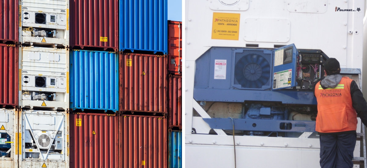 contenedores refrigerados, usos y aplicaciones
